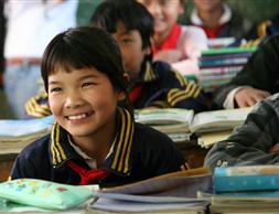 儿童为本小区扶贫项目